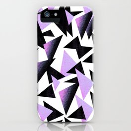 purple triangles iPhone Case