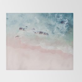 Ocean Pink Blush Throw Blanket