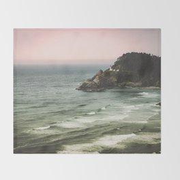 Pacific Northwest Grandeur - Heceda Lighthouse Throw Blanket