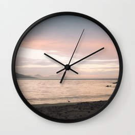 Coles Bay Sunset Seagull Wall Clock