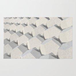 Pattern of concret hexagonal elements Rug