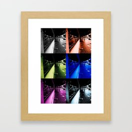 Reflections of faded glamour Framed Art Print