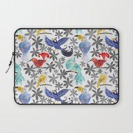 Rainforest Birds in Watercolor Laptop Sleeve