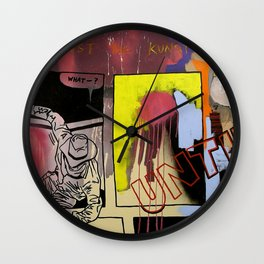 kicking against the kunst Wall Clock