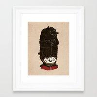 bears Framed Art Prints featuring Bears by Ronan Lynam