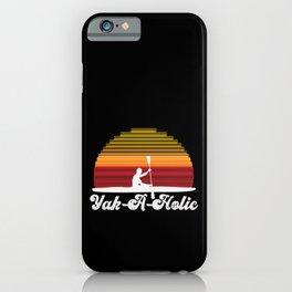 Retro Kayaking Vintage Sunset Yak-a-holic iPhone Case