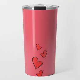 Pugs In Love Pink Travel Mug