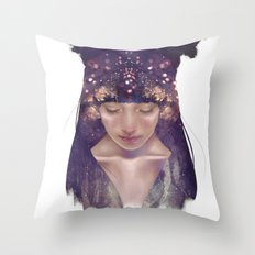 the goddess constellation Throw Pillow