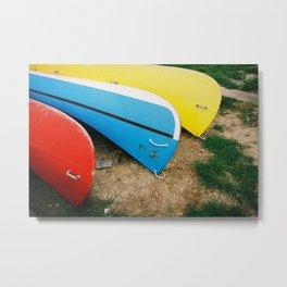 GRAND RESORT SERIES. Boats, Piran, Mediterranean Sea, Color Film Photo Metal Print