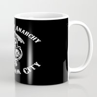 sons of anarchy Mugs featuring Svamps of Anarchy by Svampriket