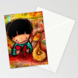 Mend a Broken Heart with Kitty and Girl Stationery Cards