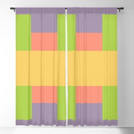 Retro Squares - A Pattern Blackout Curtain