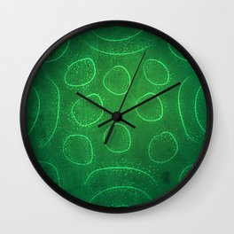 Chladni Pattern - Green by Spencer Gee Wall Clock