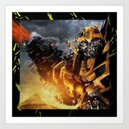 Exploding Bumblebee Art Print