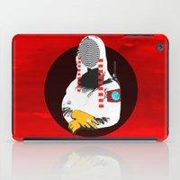 mona lisa iPad Cases featuring Mona Lisa · white waves by Marko Köppe