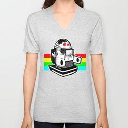 Robo Rainbow Unisex V-Neck
