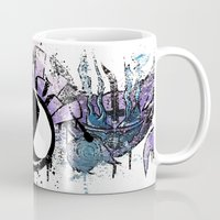 gengar Mugs featuring Mashup Gastly Haunter and Gengar by Oscar Da Chef Karlsson