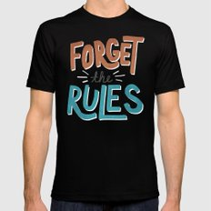 Forget the Rules 2X-LARGE Black Mens Fitted Tee
