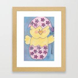 Chick in an Easter Egg Framed Art Print