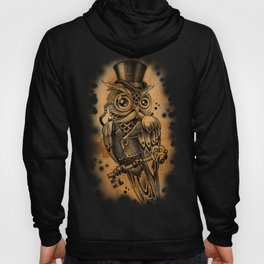 Owl tattoo cute gentleman  Hoody
