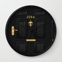 221b Wall Clocks featuring 221b Baker Street by Andrian Kembara