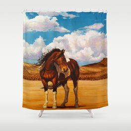 Into The Wide Shower Curtain