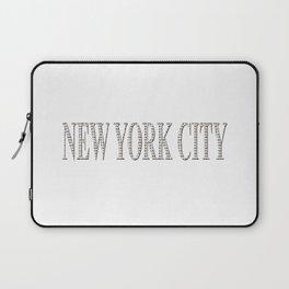 New York City (type in type on white) Laptop Sleeve