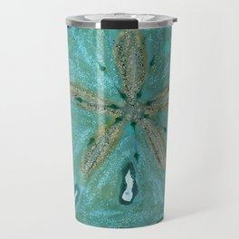 Sand Dollars Ocean Colors Travel Mug