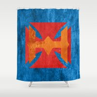 he man Shower Curtains featuring He-Man by Some_Designs