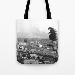 Old Time Godzilla Tote Bag