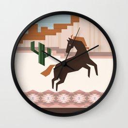 Wild Desert Horse Wall Clock