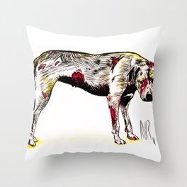 The sadness of streetdogs Throw Pillow