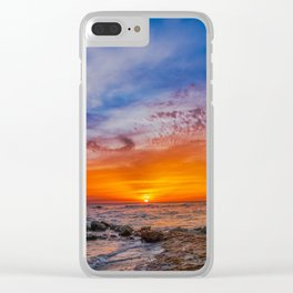 Peaceful Sunset Clear iPhone Case