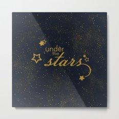 Under the stars- sparkling night typography Metal Print