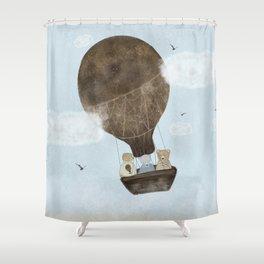 a teddy bear adventure Shower Curtain
