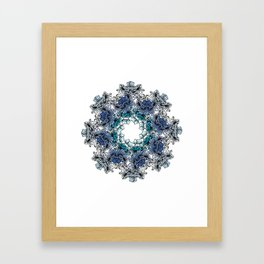 Indigo Bloom Portuguese Tiles – Braga Framed Art Print