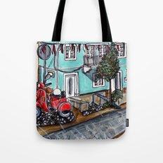 Vespa Street Tote Bag