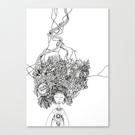 girl dreams Canvas Print
