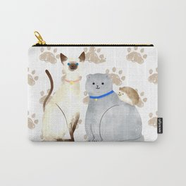 Best & cutest friends: Cats & Hedgehog Carry-All Pouch