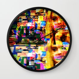 Lindsay-Alice-Court-Glitch Wall Clock