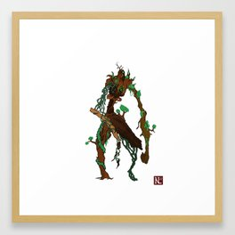 The tree man Framed Art Print