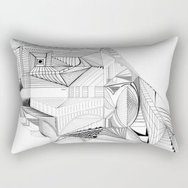 Geometric Architectural Bird-01 Rectangular Pillow