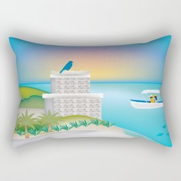 Tulum, Mexico - Skyline Illustration by Loose Petals Rectangular Pillow