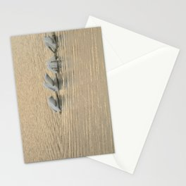 Whimsical White Pelicans Dance Stationery Cards