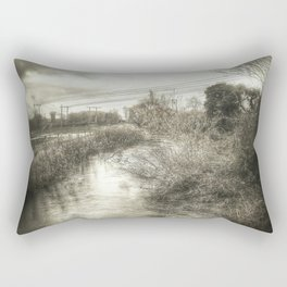 Whimsical Water Landscape Rectangular Pillow
