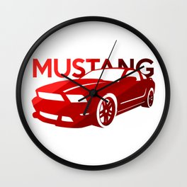 Ford Mustang Boss - classic red - Wall Clock