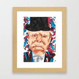 Portrait of Sir Winston Churchill Framed Art Print