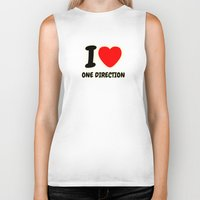 one direction Biker Tanks featuring ONE DIRECTION by Bilqis
