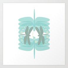 dragonfly pattern 4 Art Print