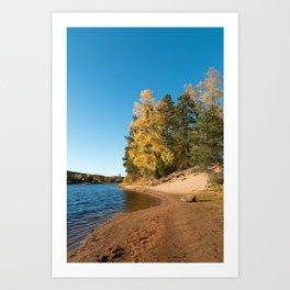 River in autumn Art Print